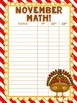 Monthly Math Goal Tracking Poster