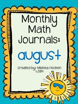 Monthly Math Journal: August!