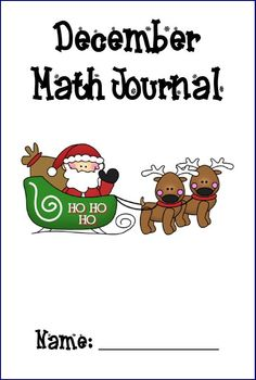 Monthly Math Journal Covers