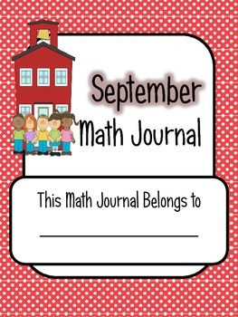 Monthly Math Journal Covers - Color & Black and White