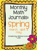 Monthly Math Journal: Spring Bundle (Mar., Apr., May)