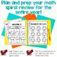 Math Journal BUNDLE (2nd Grade) Spiral Math Review