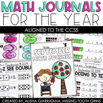 Math Journal BUNDLE (1st Grade) Spiral Math Review