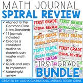 Math Journal BUNDLE (1st Grade) Spiral Math Review