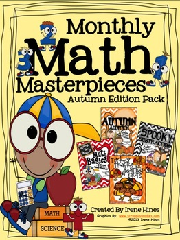 Monthly Math Masterpieces~Autumn Edition Pack Of Color By The Code Math Puzzles