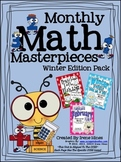 Monthly Math Masterpieces ~ Winter Edition Pack Of Math Puzzles