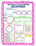 Monthly Math Poster (December)