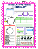 Monthly Math Poster (February)