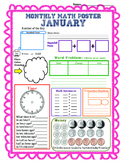 Monthly Math Poster (January)