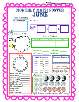 Monthly Math Poster (June)