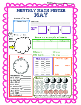 Monthly Math Poster (May)