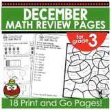 Monthly Math Practice December Print and Go