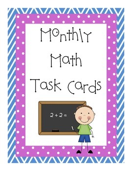 Monthly Math Task Cards