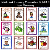 Monthly Math and Literacy Printable Packets - No Prep! Gro
