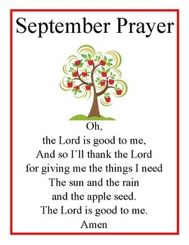 Monthly Meal Time Prayers