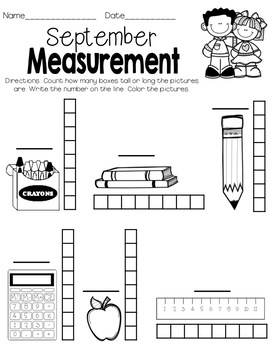 Monthly Measurement Worksheets & Cards