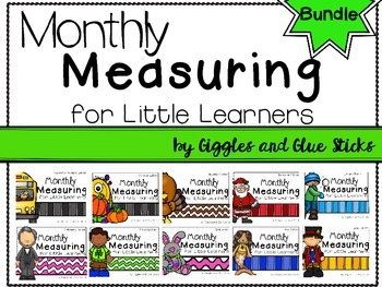Monthly Measuring for Little Learners Bundle