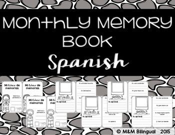 Monthly Memory Book {SPANISH}