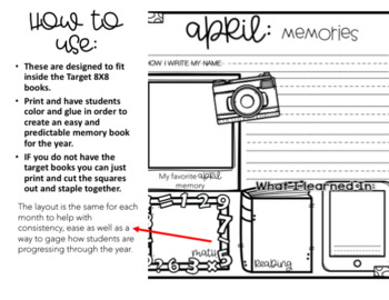Monthly Memory Book for Target Books