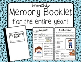 Monthly Memory Booklet