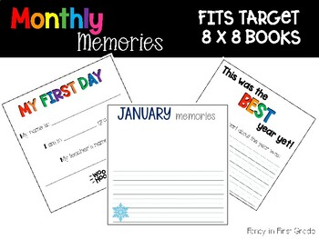 Monthly Memory Books (Fit Target 8x8 blank books)