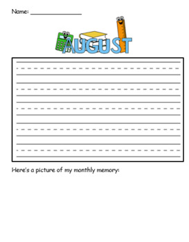 Monthly Memory Pages