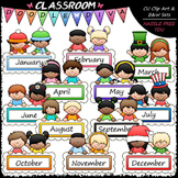 Monthly Message Kids - Clip Art & B&W Set
