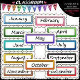 Monthly Messages Clip Art - Headers Clip Art - Banners