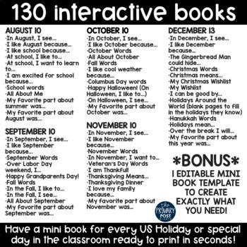 Monthly Mini Books BUNDLE