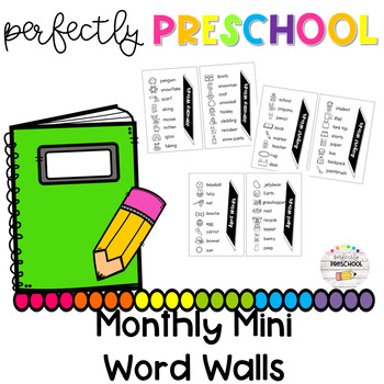 Monthly Mini Word Walls
