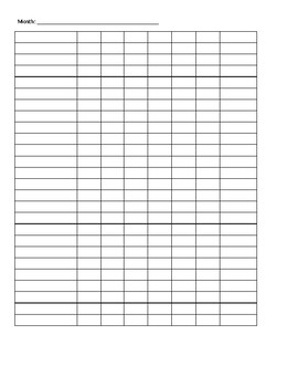 Monthly Minutes Chart