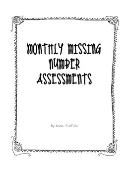 Monthly Missing Number assessment #'s 1-20