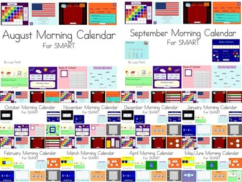 Monthly Morning Calendars SMART