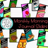 Monthly Morning Journal Slides - Brights