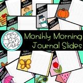 Monthly Morning Journal Slides - Gingham