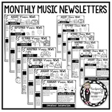 Monthly Music & General Classroom Newsletters