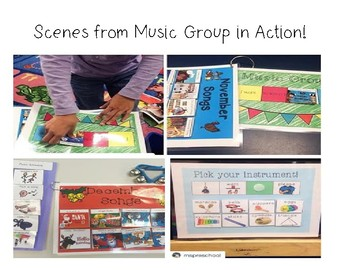 Monthly Music Group for Special Education & Speech Therapy (GROWING BUNDLE)