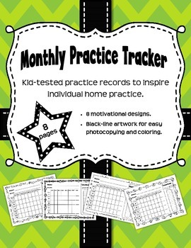Monthly Music Practice Records