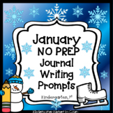 Monthly NO PREP January Journal Writing Prompts / Centers - Beginner Writers K 1