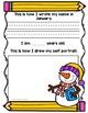 Monthly Name, Age, Self Portrait Writing Portfolio: Pre-K, Kindergarten & First