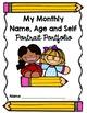 Monthly Name, Age, Self Portrait Writing Portfolio