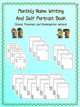 Monthly Name Writing And Self Portrait Book