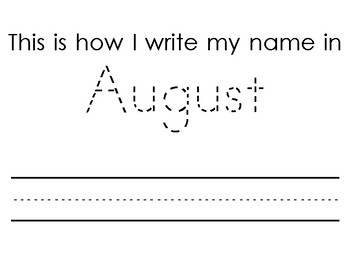 Monthly Name Writing Assessment