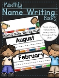 Monthly Name Writing Books