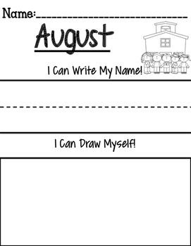 Monthly Name Writing & Drawing Activity