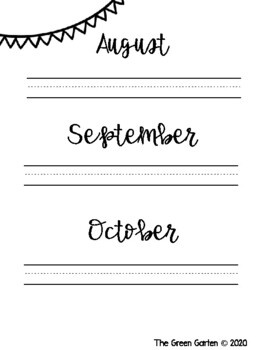 Monthly Name Writing Packet