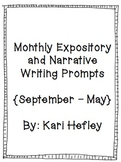 Monthly Narrative and Expository Writing Prompts