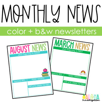Monthly Newsletter BUNDLE: Color & BW