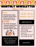 Monthly Newsletter (Boho Retro Desert Theme)