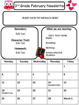 Monthly Newsletter {EDITABLE}